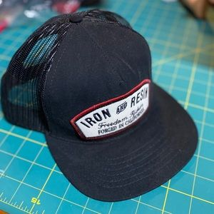 Iron & Resin Flat Bill Cap